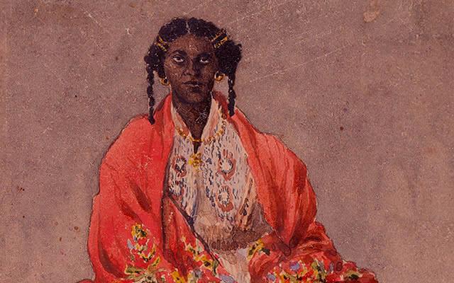 Detalle de Retrato de una negra (Provincia de Medellín), de Henry Price