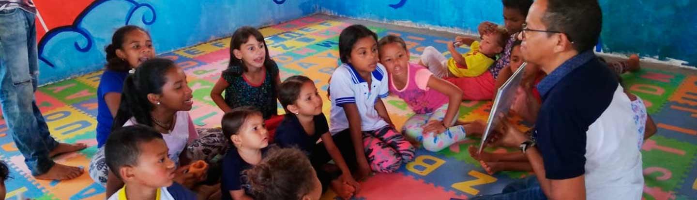 Niños de Tierra Grata en taller sobre paz