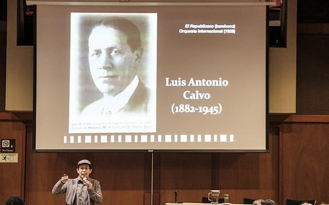 Conferencia: Porque en el dolor también se canta: Luis A. Calvo y la música nacional colombiana con la participación del musicólogo Sergio Ospina Romero en el marco del proyecto Bicentenario de una nación en el mundo.