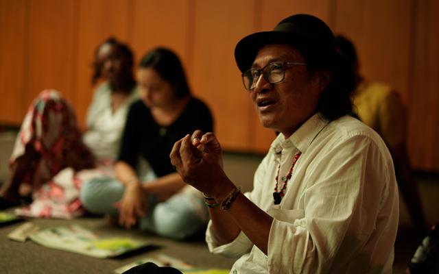 Asistentes al taller 'Nuestra diversidad: Nuestros pueblos indígenas de Antioquia