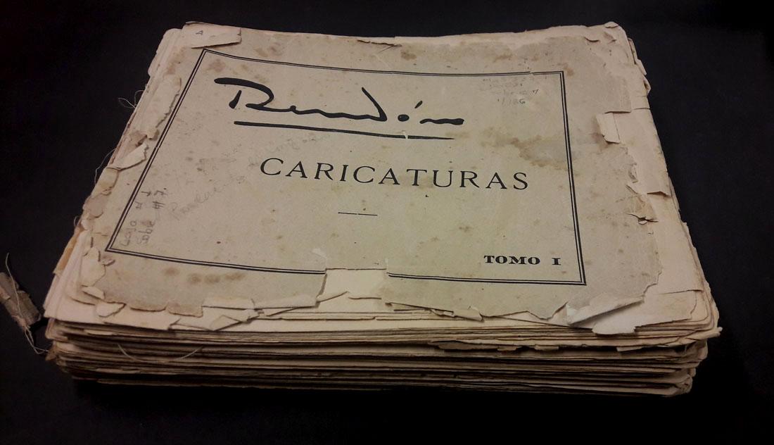Portada de la publicación Rendón. Caricaturas. Tomo I. Bogotá, Editorial de Cromos, [1930?]. Imagen exclusiva de divulgación, prohibido su uso.