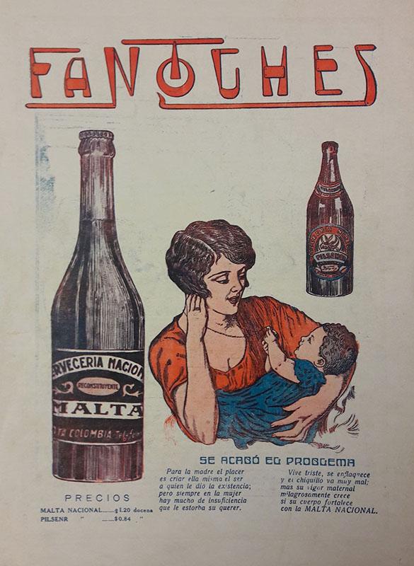 Página publicitaria en la revista Fantoches, 6 de octubre de 1928. Imagen exclusiva de divulgación, prohibido su uso.