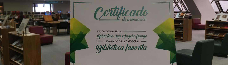 Certificado BLAA como Biblioteca favorita