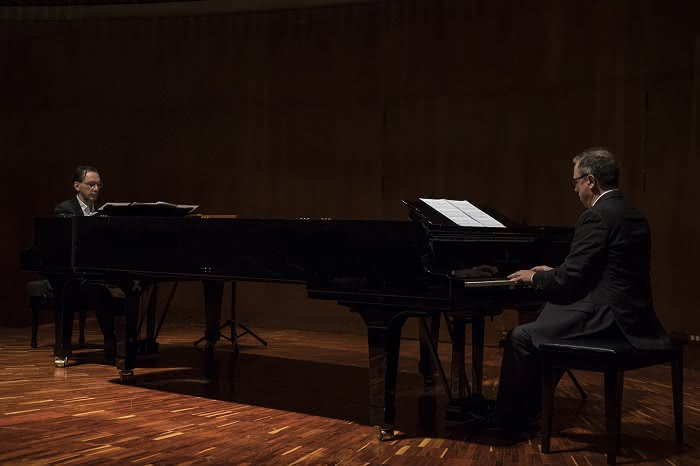 Concierto de Mário Laginha y Pedro Burmester realizado el domingo 20 de mayo de 2018 en la Sala de Conciertos de la Biblioteca Luis Ángel Arango.