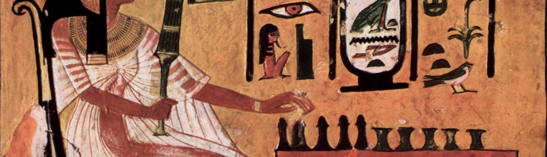Mural egipcio de la tumba de Nefertari
