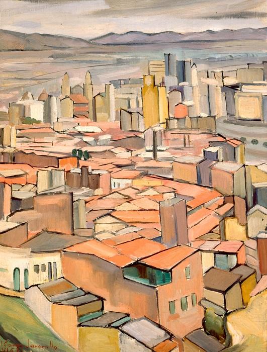 Vista de Bogotá. Ignacio Gómez Jaramillo. Pintura - Óleo sobre tela - 77,5 x 60 cm.