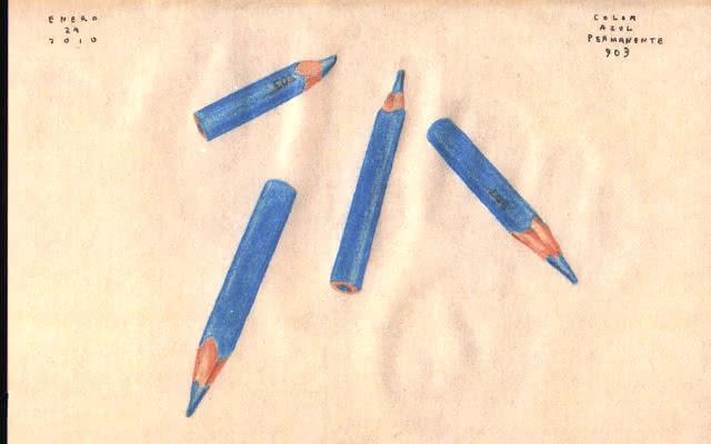 Página de la libreta de bocetos del artista José Antonio Suárez