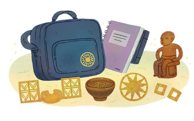 Ilustración de la maleta didáctica del Museo del Oro